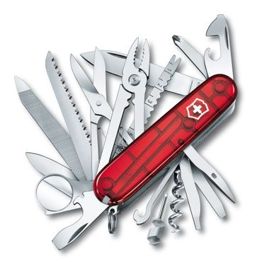 Canivete SwissChamp Vermelho Translúcido