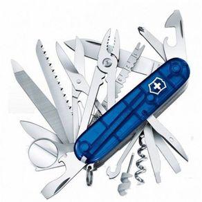Canivete SwissChamp Azul Translúcido