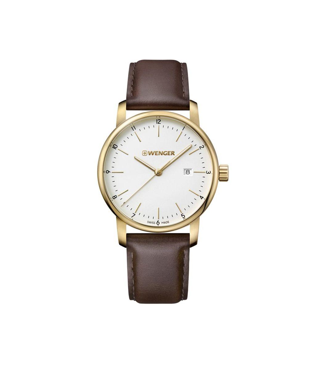 Relógio Masculino Wenger Urban Classic Dourado e Marrom