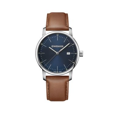 Relógio Masculino Wenger Urban Classic Azul e Marrom