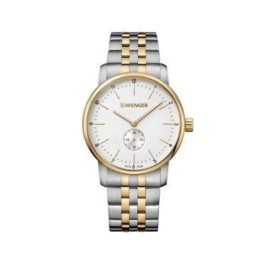 Relógio Masculino Wenger Urban Classic Branco e Dourado