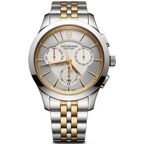 Relógio Masculino Alliance Chronograph Prata e Dourado