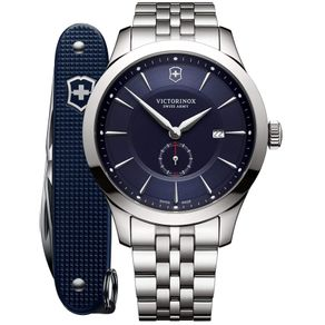 Relógio Masculino Alliance Chronograph com canivete do exército suíço Pioneer Azul
