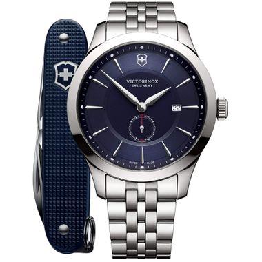 Relógio Masculino Alliance com canivete do exército suíço Pioneer Azul