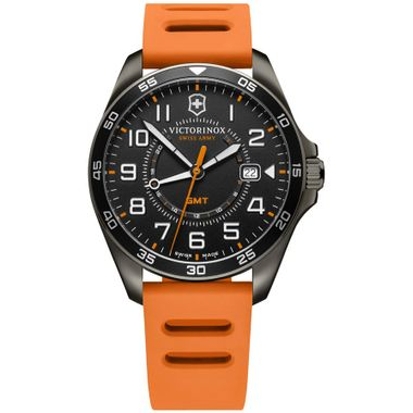 Relógio Masculino Fieldforce GMT Laranja