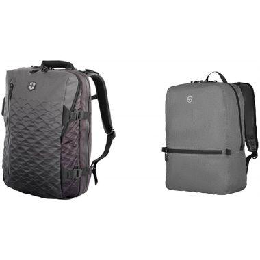 Combo Mochila VX Touring Cinza + Mochila Portátil T.A.Edge Packable em Polinylon Cinza
