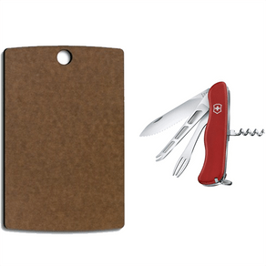 Combo Canivete Cheese Master + Tábua de Corte Epicurean Pequena