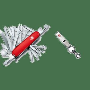 Combo Multiferramenta SwissChamp + Chaveiro Multiclip em Aço Mosquetão