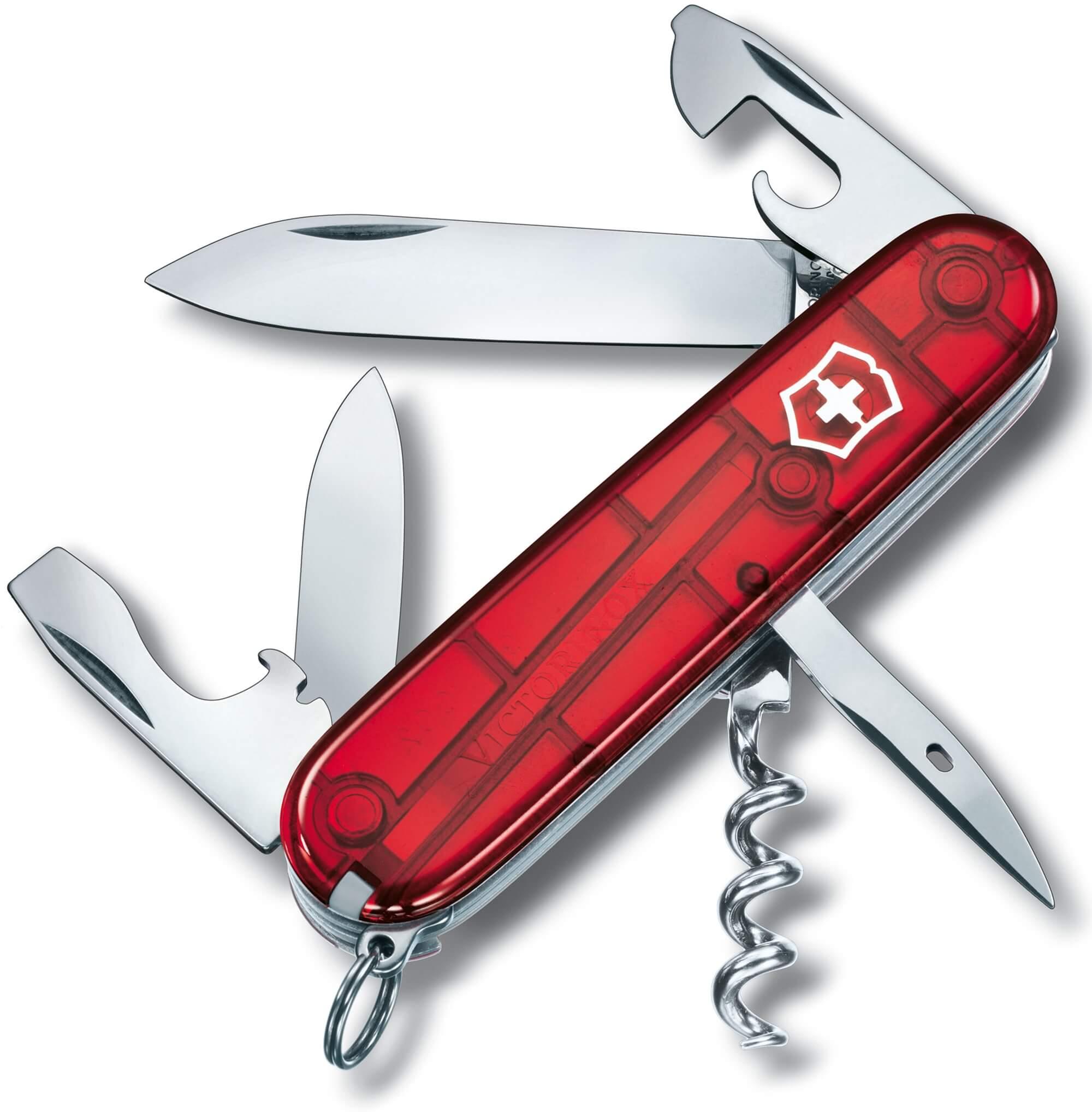 Canivete Spartan Vermelho Translúcido